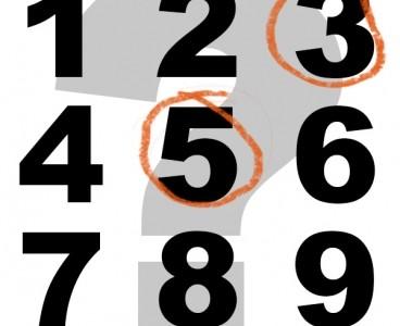 Ce numar e la mijloc intre 1 si 9?