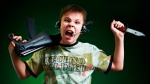 agresivitate datorita jocurilor care pun accent pe competitie